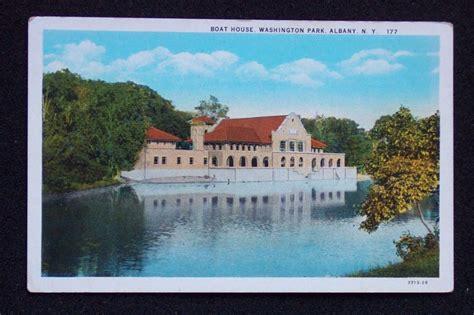 Boat Shop Albany by 1920s Boat House Washington Park Albany Ny Postcard Ebay