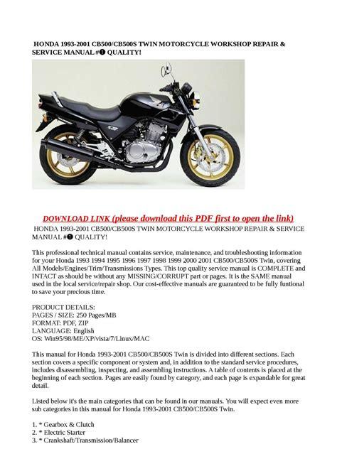 small engine repair manuals free download 2004 honda s2000 auto manual calam 233 o honda 1993 2001 cb500 cb500s twin motorcycle workshop repair service manual quality