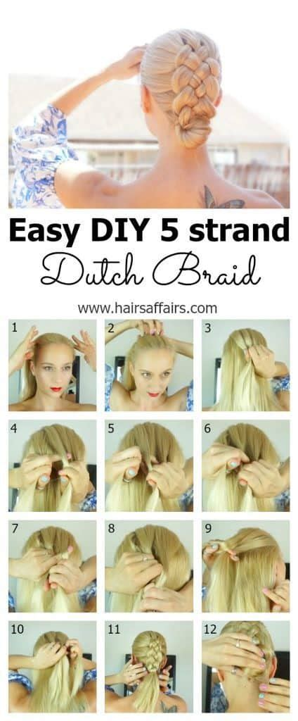 dutch braid tutorial step  step