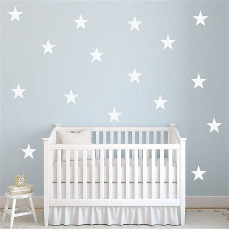 pointed star wall sticker creative multi pack wall