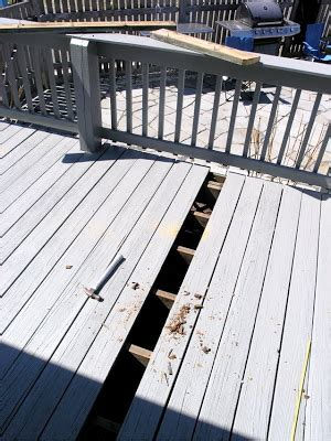 Pressure Treated Deck Boards Gap by Dover Projects Refinishing A Pressure Treated Deck
