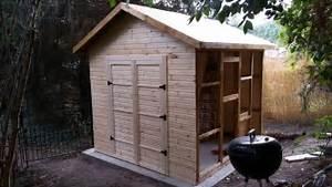 Cabanon De Jardin Bois : construction d 39 un abri de jardin en bois youtube ~ Melissatoandfro.com Idées de Décoration
