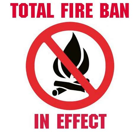 total fire ban  place today  cabonne shire cabonne