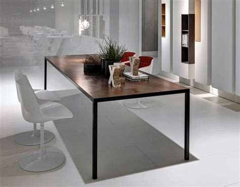 rectangular aluminium table interiorzine