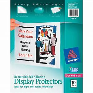 Avery Removable Self Adhesive Display Protector Ld Products