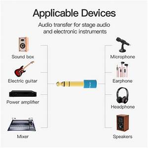 6 5mm Male To 3 5mm Female Audio Adapter