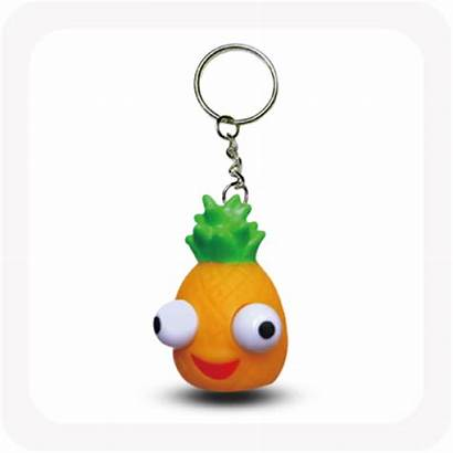 Pop Toy Eye Sensory Scented Keyring Fruit