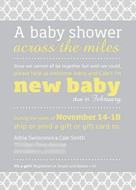 How To Say To Shower In - adria distance baby shower invitation suite