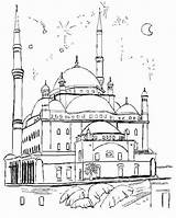 Coloring Masjid Pages Mosque Nabawi Template Printable Getcolorings Print Sketch sketch template