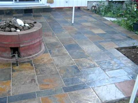 outside porch flooring slate back patio installation mov