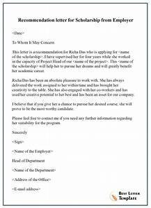 recommendation letter for scholarship format sle