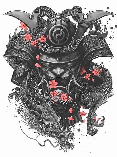 Tattoo Samurai Sleeve Irezumi Frame Freepngimg