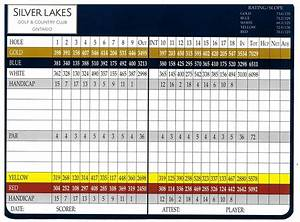 Scorecard - Silver Lakes Golf & Country Club