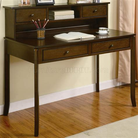 Small Writing Desks With Drawers by Walnut Finish Traditional Home Office Writing Desk W Drawers