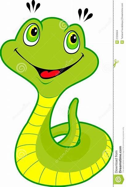 Snake Clipart Cartoon Snakes Happy Jungle Serpent