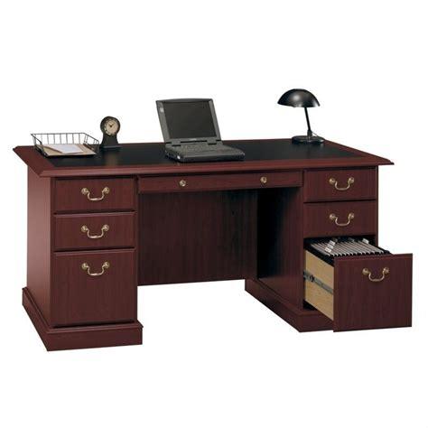 cherry wood executive desk bush saratoga home office wood managers cherry executive