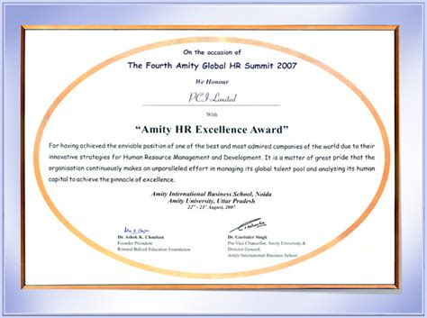 Prime Group  Amity Hr Excellence Award