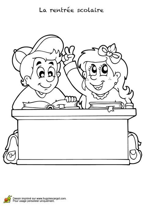 bureau de dessin coloriage bureau pour la rentrée scolaire
