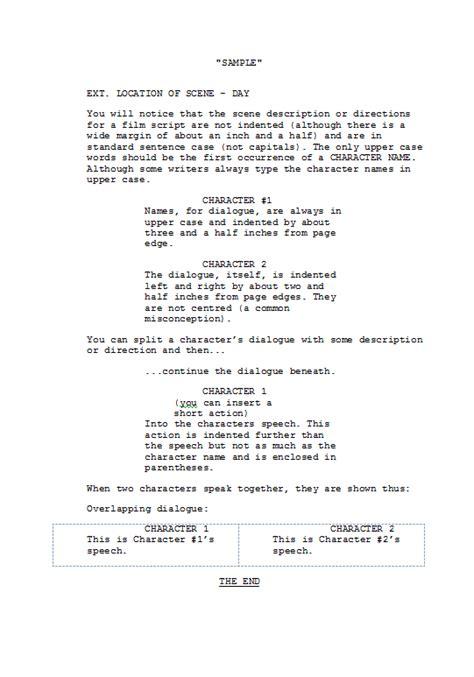 Screenplay Script Format Example