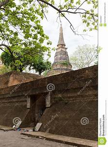 Thai Temple  Tunnel In Wat Umong  Chiang Mai Stock Image