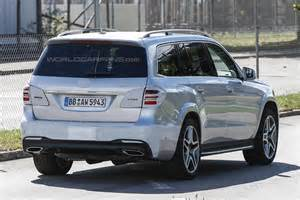 spy shots show barely covered  mercedes benz gls