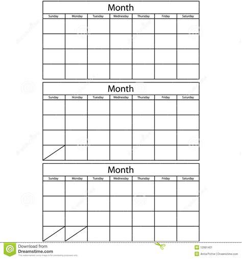 blank mallar foer kalender  vektor illustrationer