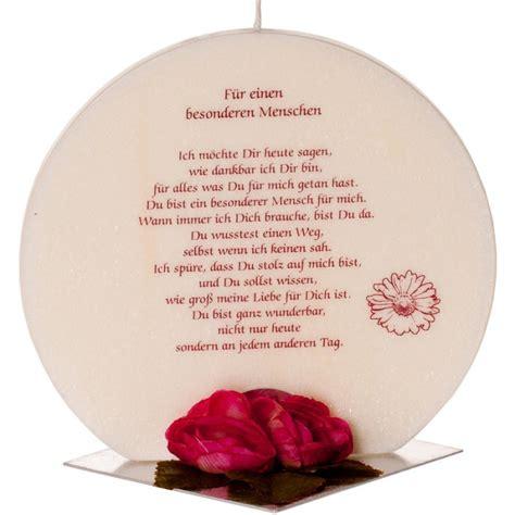 Geschenkskerze aus Palmöl mit Spruch  Für einen