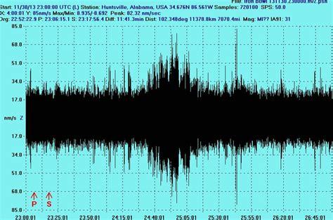 iron bowl earthquake suspicious seismic activity