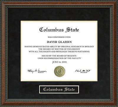 columbus state diploma frame wordyisms