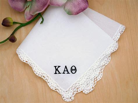 image gallery monogrammed handkerchiefs sorority greek personalized ladies handkerchief