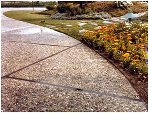 exposed aggregate in concrete patios