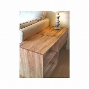 Table De Chevet Cube : table de chevet cube de rangement avec tiroir en bois de ch ne massif huil ~ Teatrodelosmanantiales.com Idées de Décoration