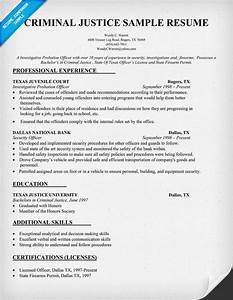 Canadian Resume Example Criminal Justice Resume Sample Law Resumecompanion Com