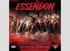Essendon Official AFL Calendar 2019 Hot Shots Australia