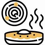 Dessert Icon Croissant Pastry Puff Danish Icons