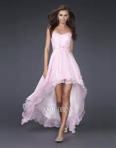hi low bridesmaid dresses light pink high low prom dresses sang maestro