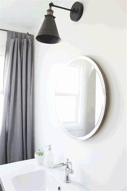 Bathroom Mirror Sliding Round Notjustahousewife Mirrors Lights