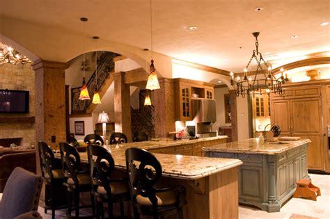 lodge style l shades lodge style lake house traditional kitchen oklahoma