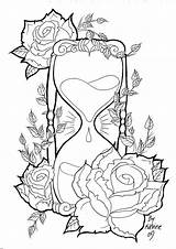 Hourglass sketch template