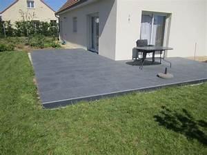 plot en beton pour terrasse 5 pose dalles gr232s With beton etanche pour terrasse