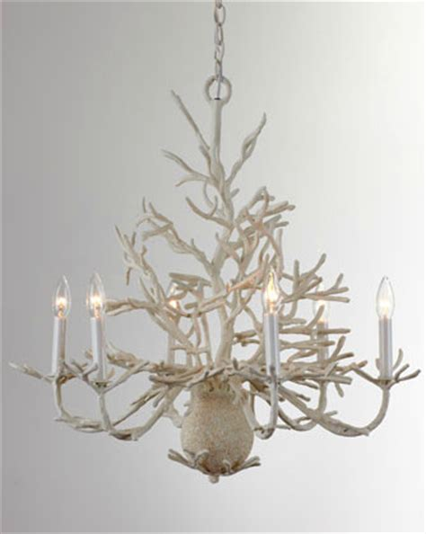 Coral Chandelier by Quot Coral Quot Chandelier Tropical Chandeliers By Horchow
