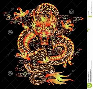 Chinese Dragon Pattern stock vector. Illustration of ...