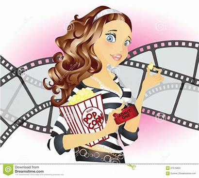 Movies Going Clip Clipart Vector Illustration Dreamstime