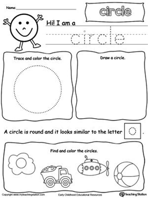 All About Circle Shapes  Preschool  Shapes  Pinterest  Printable Worksheets, Worksheets And Math
