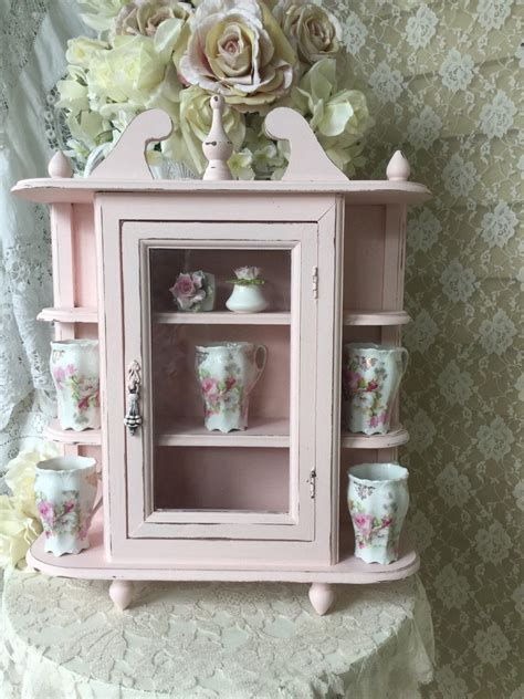Shabby Chic Wall Cabinets For The Bathroom by Shabby Wall Cabinet Hanging Curio Bathroom Kitchen Display