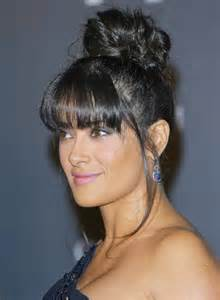 Black Updo Hairstyles with Bangs