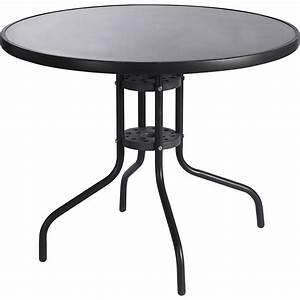 Petite Table Ronde De Jardin : table de jardin aix ronde gris 4 personnes leroy merlin ~ Dailycaller-alerts.com Idées de Décoration