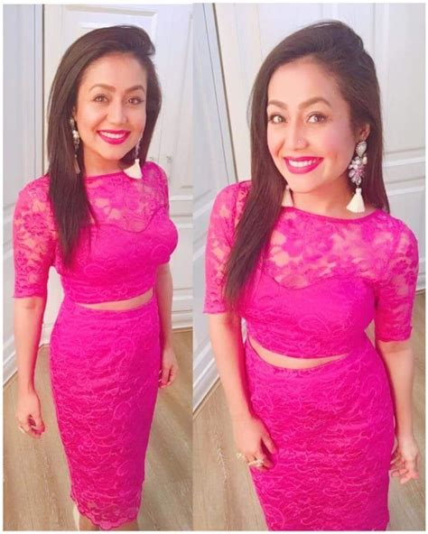 Neha Kakkar In Pink Skirt Topbraso Skirt Topplain Skirt