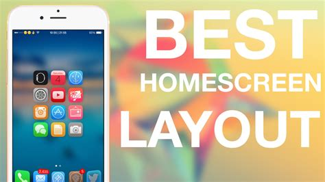 iphone home screen layout ideas ios 8 4 best iphone homescreen layout tutorial cydia
