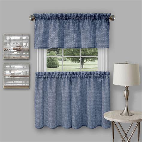 kmart kitchen curtains achim richmond window kitchen curtain tier pair and